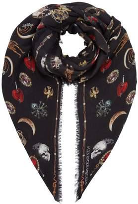 Alexander McQueen Muse Skull Silk Scarf