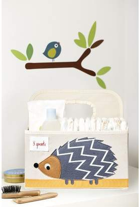 3 Sprouts Hedgehog Diaper Caddy Fabric Basket
