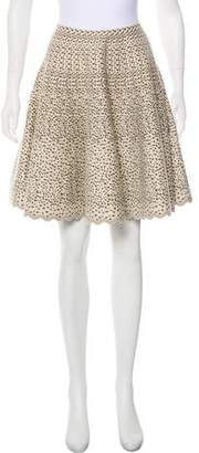 Alaia Printed Fit & Flare Skirt