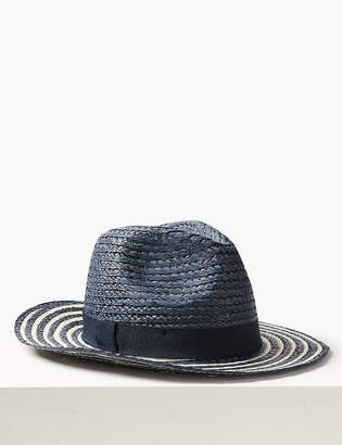 Marks and Spencer Striped Fedora Hat