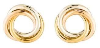 18K Tri-Tone Circle Earrings