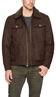 Rainforest Men's Gilpin Microsuede Trucker Jacket with Integrated Heat System