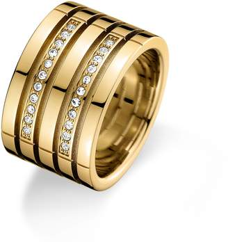 Tommy Hilfiger Gold Crystal Ring