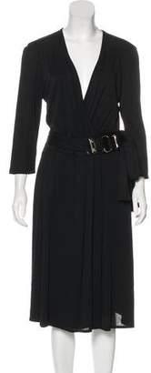 Gucci Surplice Midi Dress