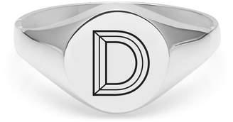 Myia Bonner Silver D Facett Initial Signet Ring