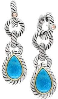 Effy Turquoise 18K Yellow Goldplated Sterling Silver Earrings