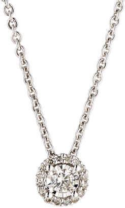 Neiman Marcus Diamonds 14k White Gold Round Diamond Solitaire Pendant Necklace