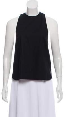 Porter Grey Sleeveless Woven Top