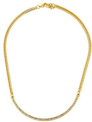Vita Fede Crystal Half Moon Necklace