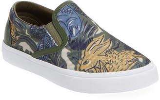 Burberry Printed Slip-On Sneaker