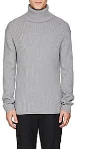 Theory Men's Rib-Knit Wool Turtleneck Sweater - Gray