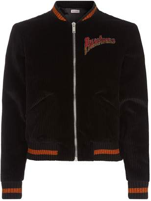 Palm Angels Velvet Souvenir Jacket