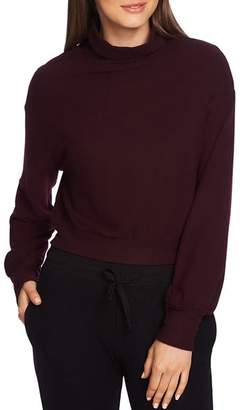 1 STATE 1.STATE Cropped Mock-Neck Sweater