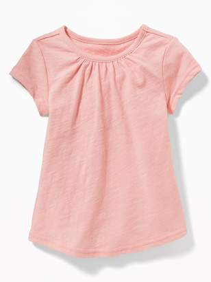 Old Navy Shirred Slub-Knit Tee for Toddler Girls