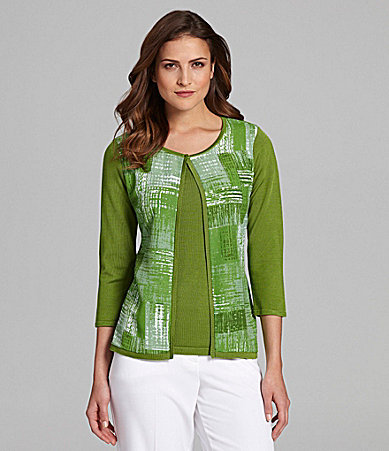 Investments 3/4-Sleeve Cardigan