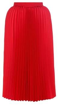 Balenciaga Pleated twill midi skirt