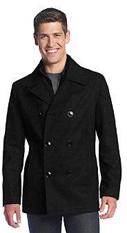 Kenneth Cole Reaction Men's Peacoat with Bib