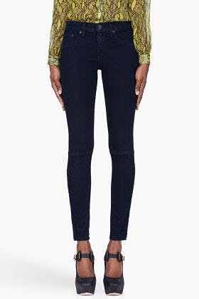 Rag and Bone RAG & BONE The Devi Zip-Ankle Indigo Jeans