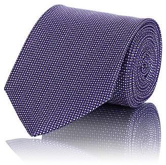 Ermenegildo Zegna Men's Polka Dot Silk Faille Necktie