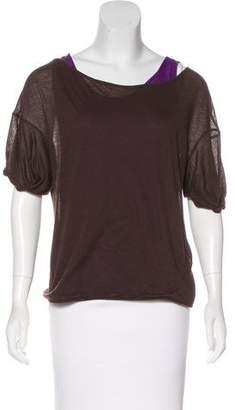 Marni Layered Short Sleeve Top