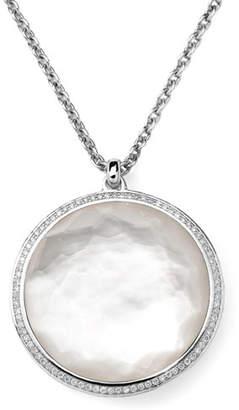 "Ippolita Stella Pendant Necklace in Hematite & Diamonds 16-18"""