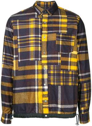 Sacai patchwork shirt jacket