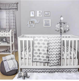 The Peanut Shell The Ellie Chevron 4-Piece Crib Bedding Set Bedding