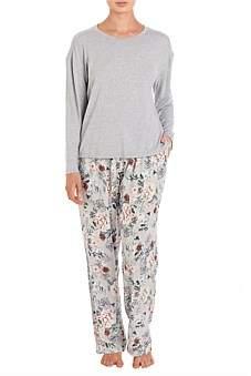 Givoni Paloma Long Pyjama With Knit Top New