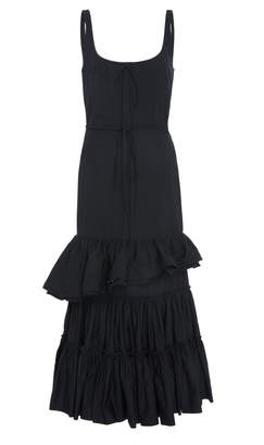 Brock Collection Onilde Tiered Ruffle Cotton-Poplin Midi Dress