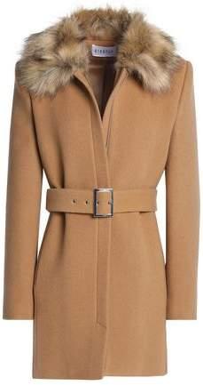 Faux Fur-Trimmed Wool And Cashmere-Blend Felt Coat