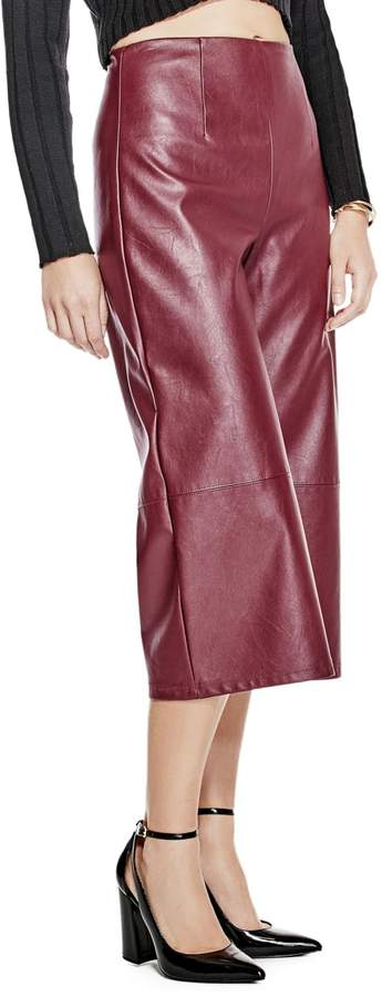 GUESS Denise Cropped Wide-Leg Pants