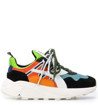 Diadora colour block lace-up sneakers