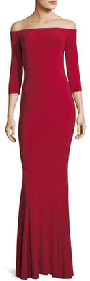 Norma Kamali OFF SHLDR FISHTAIL GOWN