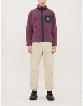 Carhartt Wip Prentis funnel-neck logo-embroidered teddy jacket