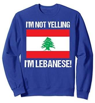 Lebanese Pride Sweatshirt Not Yelling Lebanese Lebanon Flag