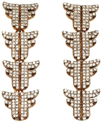 Fendi FF logo hanging earrings