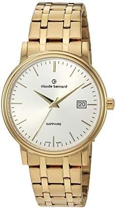 Claude Bernard Swiss Quartz Tone and Gold Plated Dress Watch(Model: 53007 37JM AID)