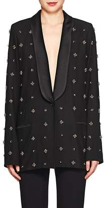 Koche Women's Embellished Plain-Weave One-Button Tuxedo Jacket