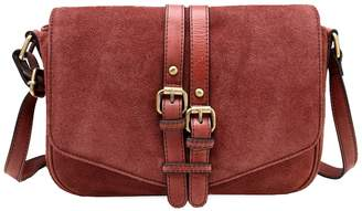 Vicenzo Leather Sydnee Suede Leather Shoulder Bag
