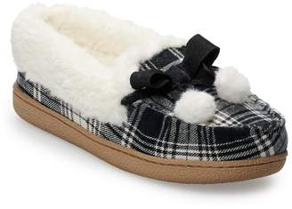 Sonoma Goods For Life Women's SONOMA Goods for Life Plaid Flannel Moccasin Slippers