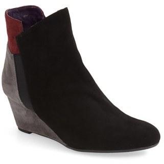 Women's Vaneli 'Trent' Leather Wedge Bootie $224.95 thestylecure.com