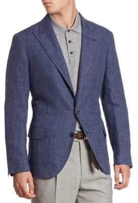 Brunello Cucinelli Flamed Soft Linen Jacket