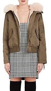 Yves Salomon Army by Women's Fur-Trimmed & -Lined Bomber Jacket - Bronze, Peach pearl