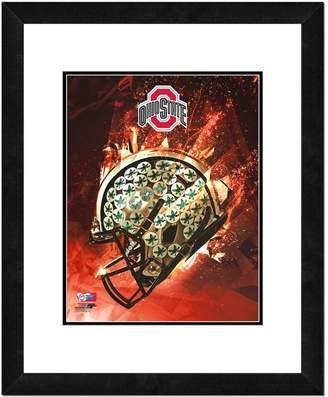 "NCAA Kohl's Ohio State Buckeyes Helmet Framed 11"" x 14"" Photo"