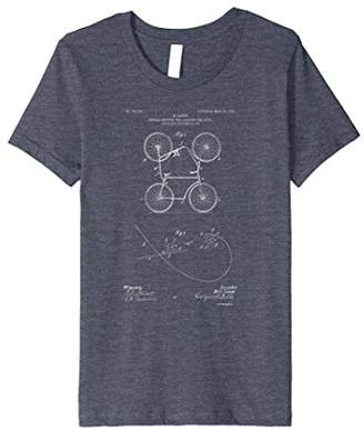 Patent Print 1905 Double Bicycle Cycling T-Shirt