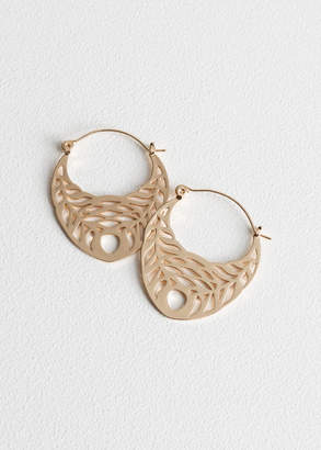 And other stories Cutout Wreath Hoops