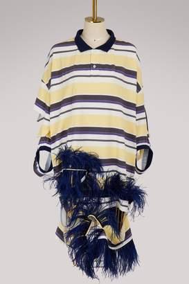 Maison Margiela Feathered polo dress