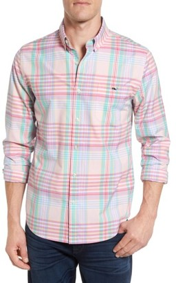 Men's Vineyard Vines Slim Fit Tucker Plaid Sport Shirt $98.50 thestylecure.com