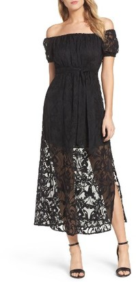 Women's Bardot Gracie Off The Shoulder Maxi Dress $149 thestylecure.com