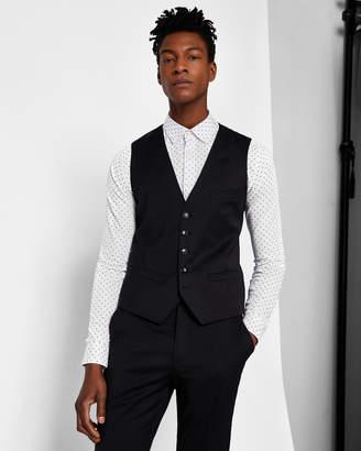 Ted Baker CASTLEW Slim plain wool waistcoat